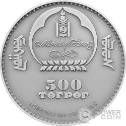 ARGALI OVIS AMMON Wildlife Protection Silver Coin 500 Togrog Mongolia 2013