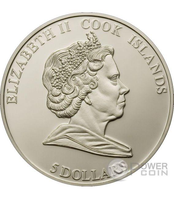 PULTUSK METEORITE Comet Silber Münze 5$ Cook Islands 2008
