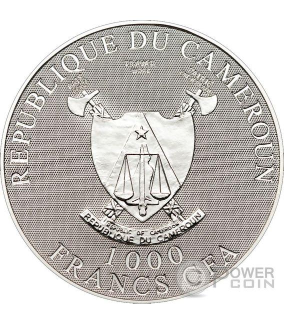 Sindone di torino ologramma moneta argento 1000 fr camerun for Coin torino