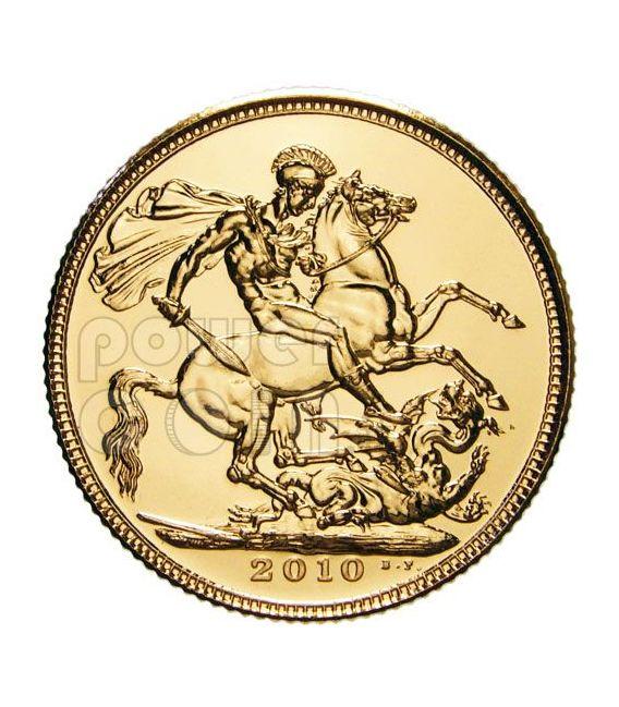 STERLINA ORO 1 Gold Sovereign Moneta Elisabetta II Royal Mint 2010