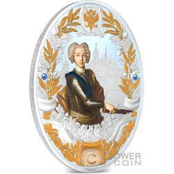 PETER II Pietro Russian Emperors 2 Oz Moneta Argento 5$ Niue 2014