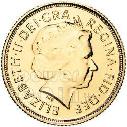 GOLD FULL SOVEREIGN QE2 Münze BU New Unc Royal Mint 2010