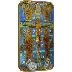 CRUCIFIXION OF JESUS Crocifissione di Gesu World Heritage 1 Oz Moneta Argento 2$ Niue 2014
