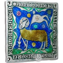 LAMB OF GOD Agnello di Dio World Heritage 1 Oz Moneta Argento 2$ Niue Island 2014