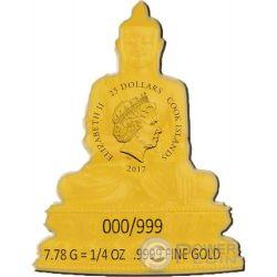 SHAKYAMUNI BUDDHA Masterpieces of Art 3 Oz Серебро Монета 20$ Золото 25$ Острова Кука 2017