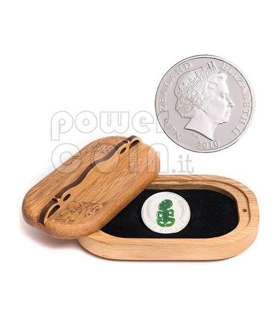 HEITIKI Maori Art Idol Moneda Plata 1$ New Zealand 2010