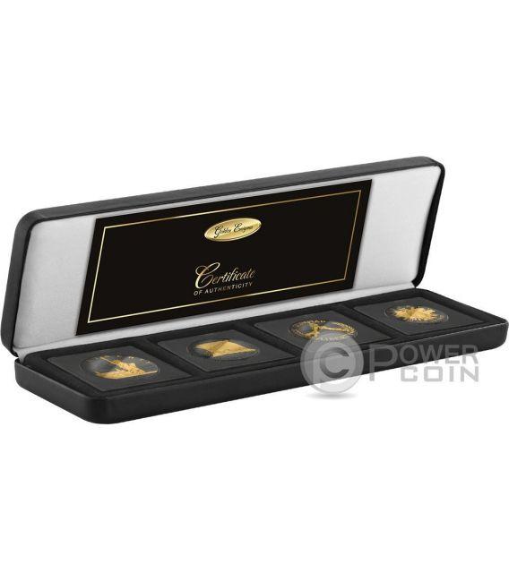 GOLDEN ENIGMA Commemorative USA Proof Set 4 Silver Coins 1$ USA 2017