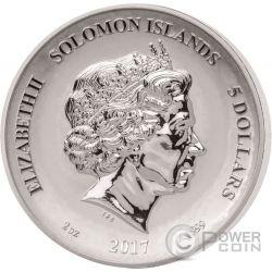 PHOENIX Legends And Myths 2 Oz Silver Coin 5$ Solomon Islands 2017