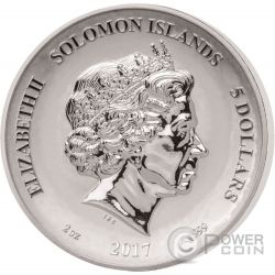 WIZARD Legends And Myths 2 Oz Silver Coin 5$ Solomon Islands 2017