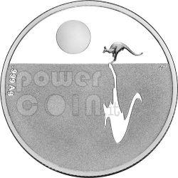 KANGAROO AT SUNSET Silver Coin Proof 1$ Australia 2010