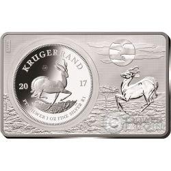 KRUGERRAND 50 Aniversario 1 Oz Moneda Plata 2 Oz Set 1 Rand Sudafrica 2017