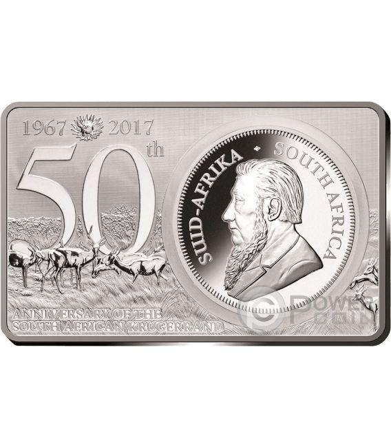 KRUGERRAND 50th Anniversary 1 Oz Silver Coin 2 Oz Set 1 Rand South Africa 2017