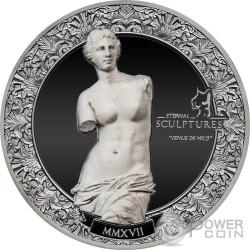 VENUS DE MILO Eternal Sculptures Venere Afrodite 2 Oz Moneta Argento 10$ Palau 2017