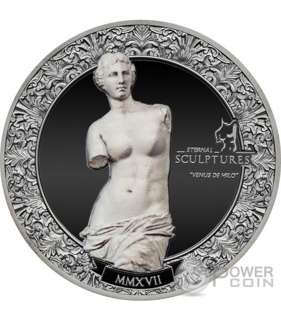 VENUS DE MILO Eternal Sculptures Aphrodite 2 Oz Silver Coin 10$ Palau 2017