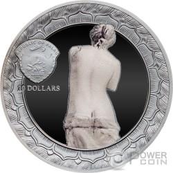 VENUS DE MILO Eternal Sculptures Aphrodite 2 Oz Серебро Монета 10$ Палау 2017