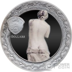 VENUS DE MILO Eternal Sculptures Venus Afrodita 2 Oz Moneda Plata 10$ Palau 2017