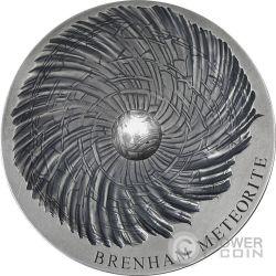 BRENHAM Meteorite Art 5 Oz Silber Münze 5000 Francs Chad 2016