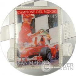 MICHAEL SCHUMACHER 2 Oz Silver Coin 10 Francs Congo 2007