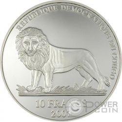 MICHAEL SCHUMACHER 2 Oz Moneta Argento 10 Franchi Congo 2007