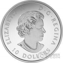AURORA BOREALIS AT MCINTYRE CREEK Arroyo 150 Aniversario Moneda Plata 10$ Canada 2017