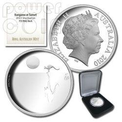 KANGAROO AT SUNSET F15 Privy Moneda Plata Proof 1$ Australia 2010