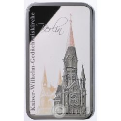 KAISER WILHELM MEMORIAL CHURCH Chiesa Hologram Collection 1 Oz Moneta Argento 2$ Solomon Islands 2017