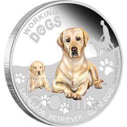 LABRADOR RETRIEVER Working Dogs Silver Coin 1$ Tuvalu 2010