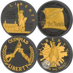 GOLDEN ENIGMA Commemorative USA Proof Set 4 Silver Coins 1$ US Mint 2017