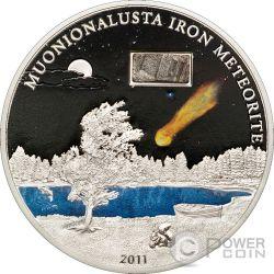 METEORITE MUONIONALUSTA Silver Coin 5$ Cook Islands 2011