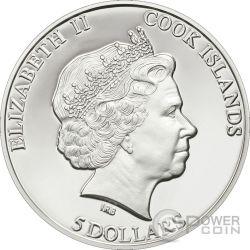 METEORITE MUONIONALUSTA Moneda Plata 5$ Cook Islands 2011