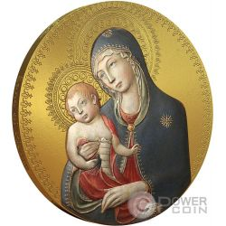 MADONNA WITH CHILD Bambino World Heritage 1 Oz Moneta Argento 2$ Niue 2014