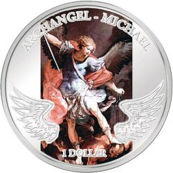 MICHAEL ARCHANGEL Guardian Angel Silber Münze 1$ Solomon Islands 2009
