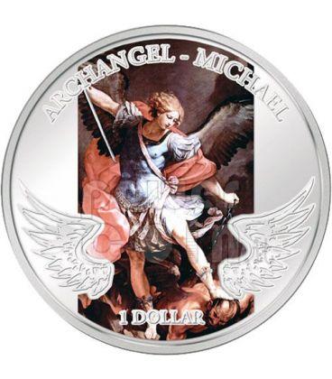 ARCANGELO MICHELE Angelo Custode Moneta Argento 1$ Solomon Islands 2009