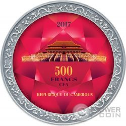 FORBIDDEN CITY Citta Proibita di Pechino Moneta Argento 500 Franchi Cameroon 2017