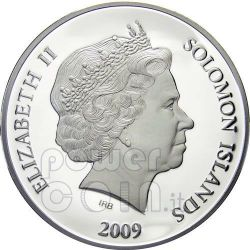 MICHAEL ARCHANGEL Guardian Angel Серебро Монета 1$ Соломонские Острова 2009