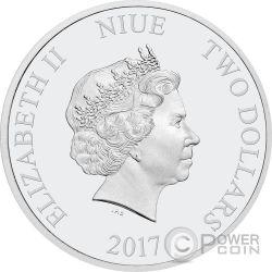 SALLY Cars Disney 1 Oz Серебро Монета 2$ Ниуэ 2017
