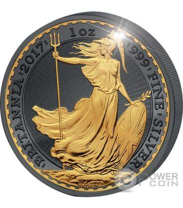 BRITANNIA 30th Anniversary Golden Enigma Premium Edition 1 Oz Silver Coin 2£ United Kingdom 2017