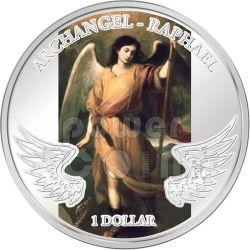 ARCANGELO RAFFAELE Angelo Custode Moneta Argento 1$ Isole Salomone 2009