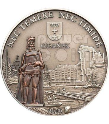 GDANSK Hanseatic League Hansa Silver Coin 5$ Cook Islands 2010