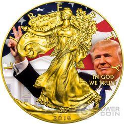 TRUMP Donald President Walking Liberty 1 Oz Silber Münze 1$ US Mint 2016