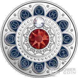 ARIES Zodiac Swarovski Crystal Silver Coin 3$ Canada 2017