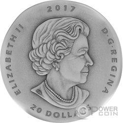ORNITHOMIMUS Ancient 1 Oz Moneta Argento 20$ Canada 2017