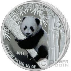 PANDA BEAR Charming Animals Silber Münze 1000 Francs Benin 2017
