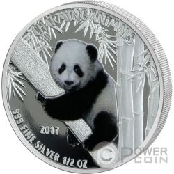 PANDA BEAR Charming Animals Silver Coin 1000 Francs Benin 2017