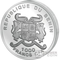 PANDA BEAR Charming Animals Moneda Plata 1000 Francos Benin 2017