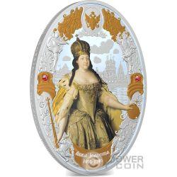 ANNA IOANOVNA Russian Emperors 2 Oz Silver Coin 5$ Niue 2014