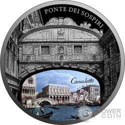 PONTE DEI SOSPIRI SOS Venice 1 Oz Moneta Argento 2$ Niue 2017
