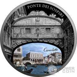 PONTE DEI SOSPIRI Bridge of Sighs SOS Venice 1 Oz Silver Coin 2$ Niue 2017