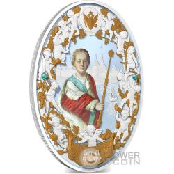 IVAN VI Antonovich Russian Emperors 2 Oz Silver Coin 5$ Niue 2014