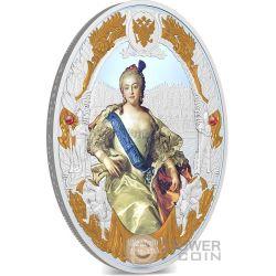 ELIZABETH I Elisabetta Russian Emperors 2 Oz Moneta Argento 5$ Niue 2014
